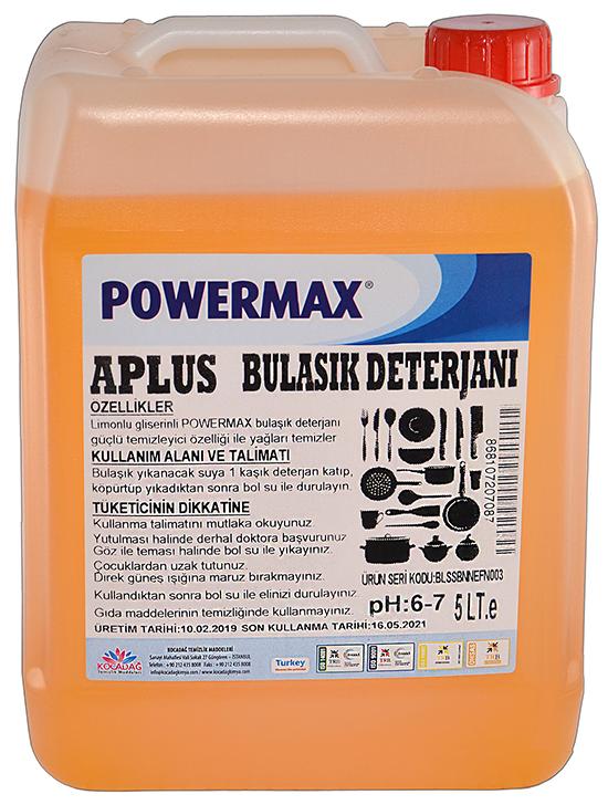 Powermax A Plus Bulaşık Deterjanı 5 lt