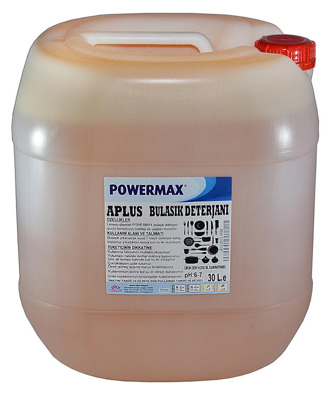 Powermax A Plus Bulaşık Deterjanı 30 lt